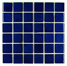 premium quality cobalt blue porcelain square mosaic tile shiny