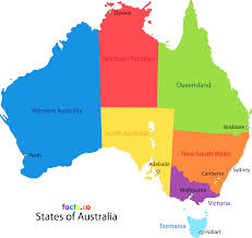 states australia map map of australia with states and territories arabcooking me