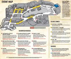 Universal Map Universal Orlando Halloween Horror Nights 2015 Map