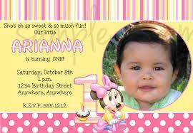 minnie mouse 1st birthday party invitations iidaemilia com