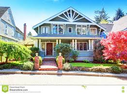 House Exterior Design Pictures Free Download by Large Luxury Blue Craftsman Classic American House Exterior Stock