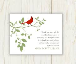 thank you card for bird funeral thank you card digital sympathy card