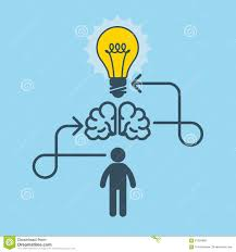 thinking new idea and invention concept stock vector image