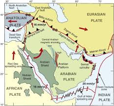 middle east earthquake zone map arabian plate arabian tectonic plates