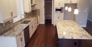 Top  Best White Granite Colors For Kitchen Countertops - Granite on white kitchen cabinets