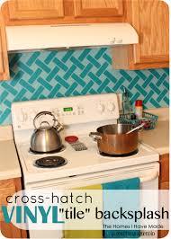 cross hatch vinyl tile backsplash positively splendid crafts