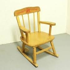 Unfinished Wood Chairs Childs Unfinished Wooden Rocking Chair Childrens Wooden Rocking
