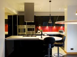 astonishing black white and red kitchens kitchen designxy com