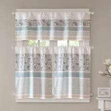 Kitchen Curtains August Grove Chambery Printed And Pieced Rod Pocket Kitchen