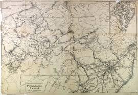 Map Of Pennsylvania Pennsylvania Rr System Map