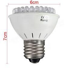 Grow Light Bulb E27 3w 60 Led Grow Light Plant Lamp Hydroponic Ac 110v 220v Us