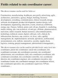photo resume format top 8 mis coordinator resume samples