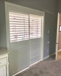 Bypass Shutters For Patio Doors Plantation Shutters For Sliding Glass Doors With Floor And Black