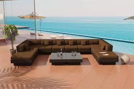 Patio Furniture In Las Vegas by Venice Beach Outdoor Wicker U Shaped Sectional Sofa By Las Vegas
