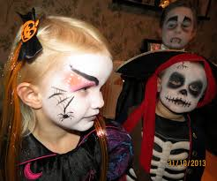 halloween face paint kids boy witch skeleton