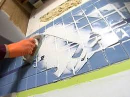 Grout Kitchen Backsplash by Installing A Glass Tile Backsplash In A Kitchen How Tos Diy