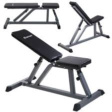 costway adjustable folding sit up ab incline abs bench flat fly