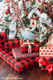 christmas plaid wrapping paper flocked ski christmas tree plaid christmas christmas wrapping and