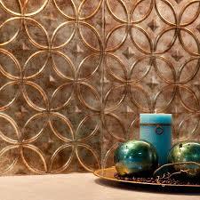 Fasade BacksplashRings In Bermuda Bronze - Bronze backsplash tiles