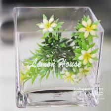 Square Vase Wholesale Glass Cylinder Square Crystal Vase Hydroponic Flower