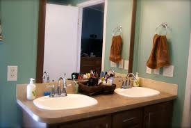 fair design ideas using rectangular brown wooden vanity cabinets