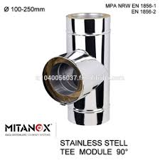 stainless steel double wall insulated chimney fireplace flue pipe