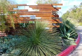 uncategorized horizontal wooden and glass backyard fence ideas
