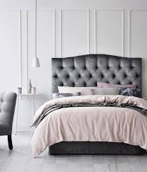 Velvet King Headboard Bedroom Decorative Grey Velvet Tufted Headboard Magnificent Tov