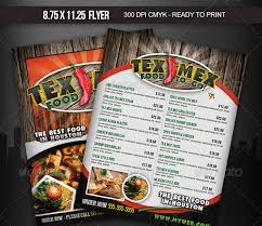 menu flyer template tex mex menu flyer front page menu research tex
