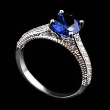 3 4ct pave halo blue engagement rings amazing blue stone engagement rings artistry