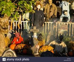 halloween decorations in front house stock photos u0026 halloween