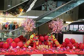 New Year Fruit Decorations by Chinese New Year Decoration Inside The Mall Picture Of Orchard