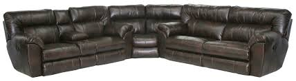 Leather Sectional Sofa With Power Recliner Catnapper Maverick Power Reclining Sectional Sofa With Left