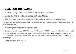 relative clause game worksheet free esl printable worksheets