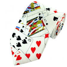 cards themed silk novelty tie from ties planet uk