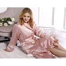 robe de chambre en satin pour femme de luxe en soie