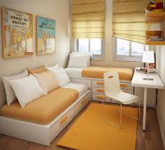 Really Small Bedroom Design Small Bedroom Design For Teenage Girls Brown Laminated Bed Frame