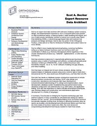 Enterprise Data Architect Resume Incredible Formula To Make Interesting Business Intelligence Resume