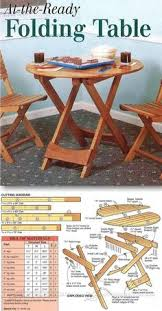 folding table plans furniture plans and projects woodarchivist