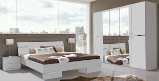 Schlafzimmer Komplett Online Schlafzimmer Komplett 4 Teilig Anna Mit Kleiderschrank 225cm Weiß
