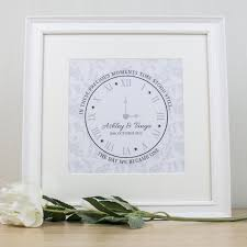 wedding gift ideas uk personalised wedding clock framed print at toxicfox co uk