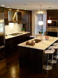 Dark Cabinets Light Countertop Houzz - Kitchen photos dark cabinets