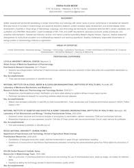 Industrial Resume Templates Life Physical And Social Science Resume Samples