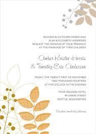 wedding invitations free 24 fall wedding invitation templates free sle exle
