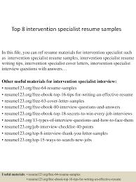 sample resume cpa behavioral specialist consultant cover letter community pharmacist behavior intervention specialist sample resume cpa resume templates top8interventionspecialistresumesamples 150408222434 conversion gate01 thumbnail 4