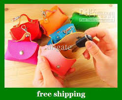 selling pu small wallet keychain purse bag key coin bags