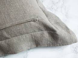 How To Make A Cushion With Zip Make An Oxford Cushion Cover The Cheats Way The Nice Nest
