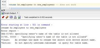Change Table Name Oracle Rename A Table 1z0 061 Oracle Sql