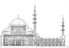 floor plan of a mosque suleymaniye mosque istanbul ephesus tours