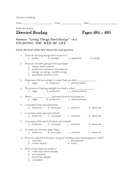directed reading 18 2 worksheet